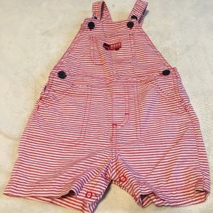 Fire engine overall shorts